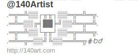 Twitter- @140Artist | ASCII Art | Scoop.it