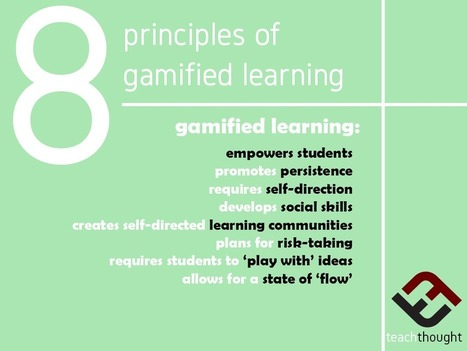 8 Principles Of Gamified Learning - | TeachThought | Scoop.it