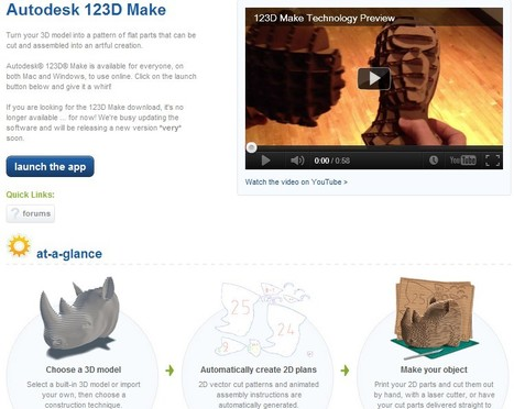 Autodesk 123D - Personal Fabrication, 3D Printing, and Making Products and Services | Time to Learn | Scoop.it