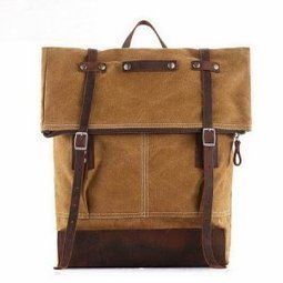 Washed canvas top roll rucksacks with leather straps - $109.90 : Notlie handbags, Original design messenger bags and backpack etc | personalized canvas messenger bags and backpack | Scoop.it
