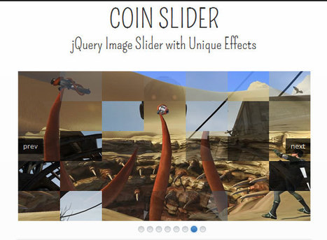 Coin Slider: jQuery Image Slider Plugin with Unique Effects | Slideshow & Carousel Jquery | Scoop.it