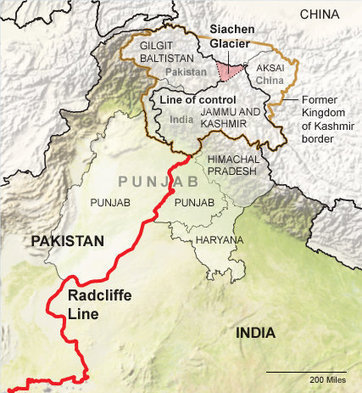 History of the India-Pakistan Border | Meagan's Geoography 400 | Scoop.it