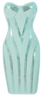 Clothing : Bandage dresses : 'Michaela' Aqua Sequin Strapless Bandage Dress | Nadinement vôtre | Scoop.it