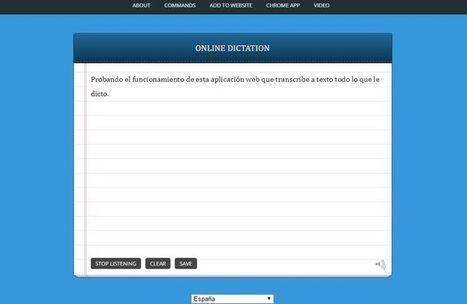 Convertir voz en texto, las 8 mejores aplicaciones web | Educación y Cultura AZ | Edulateral | Scoop.it