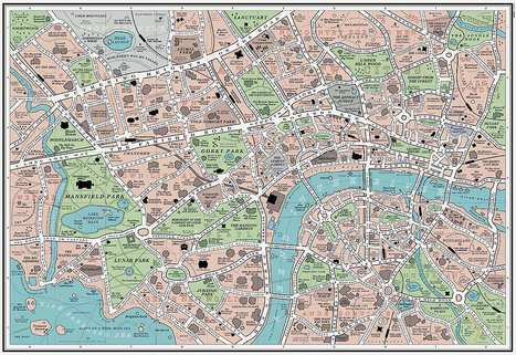 Map of the City Where Every Novel Takes Place | Electric Literature | Booketing | Scoop.it