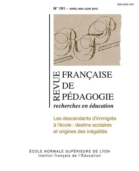 Revue Française de Pédagogie - n°191 - Avril/Mai/Juin 2015 | Les dernières revues reçues à la Bibliothèque ESPE Montauban | Scoop.it