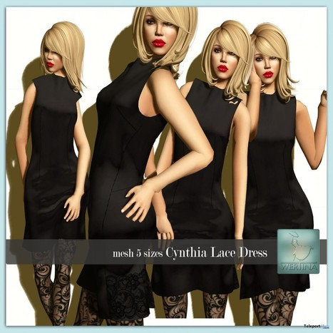 Cynthia Lace Dress Color Me Project Group Gift by WERTINA | Teleport Hub - Second Life Freebies | Second Life Freebies | Scoop.it