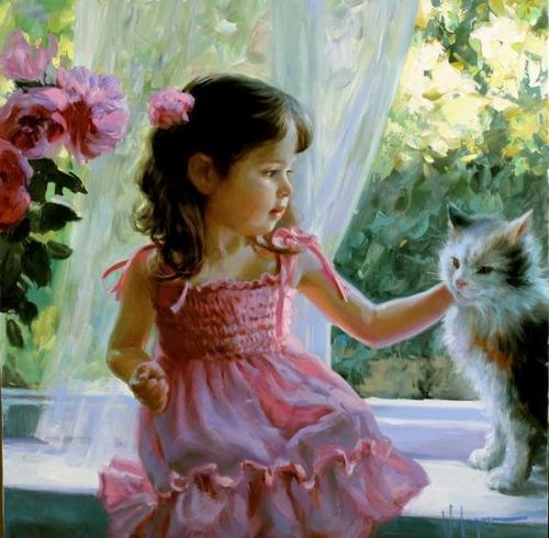 Art : Peintures d'enfants par Vladimir Volegov - Children Paintings by Vladimir Volegov | Cuded