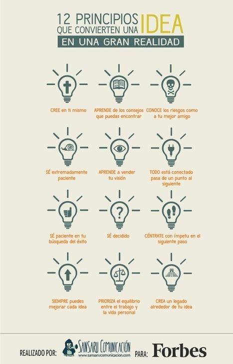 12 principios que convierten una idea en realidad #infografia #infographic #entrepreneurship | Formación-Empleo | Scoop.it