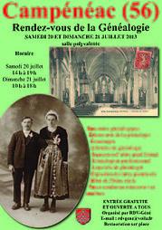 Campénéac Capitale de la généalogie les 20 et 21 juillet 2013 | Rhit Genealogie | Scoop.it