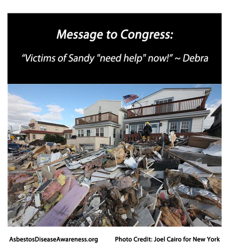 """ADAO: Hurricane Sandy 6 Word Quote for Congress: """"Victims of Sandy """"need help"""" now!  ~ Debra   Asbestos and Mesothelioma World News   Scoop.it"""