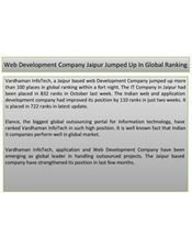 Web Development Company Jaipur Jumped Up In Global Ranking | Web Development Company in Jaipur | Scoop.it