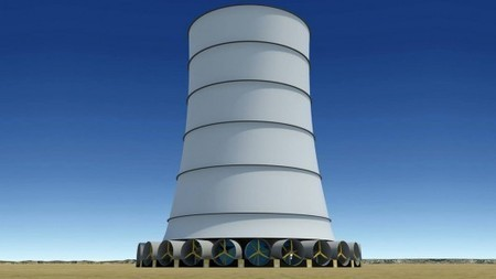 Solar Wind Energy's Downdraft Tower generates its own wind all year round | GizMag.com | environment | Scoop.it