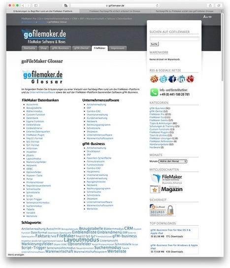 Fachbegriffe zu FileMaker erklärt das goFileMaker-Glossar. | Learning FileMaker | Scoop.it