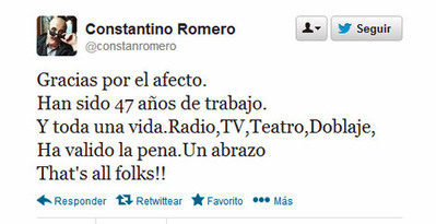 Fallece Constantino Romero | Periodismo | Scoop.it