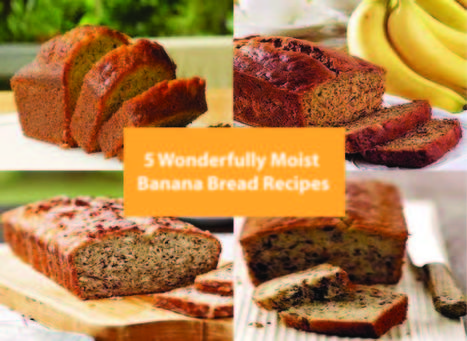 5 Wonderfully Moist Banana Bread Recipes - Kitchen Things | Stuff for the Home | Scoop.it