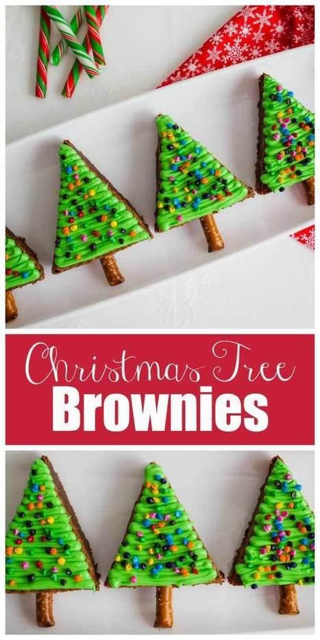 Christmas Tree Brownies   Essentially Mom Favorites   Scoop.it