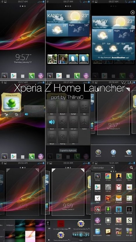 Download Sony Xperia Z Launcher for Android Free   theme   Scoop.it