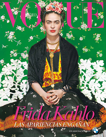 Frida Kahlo Makes the Cover of Vogue for the First Time | Silhouettes | ARTINFO.com | COYOACAN TRAVEL REPORT | Scoop.it