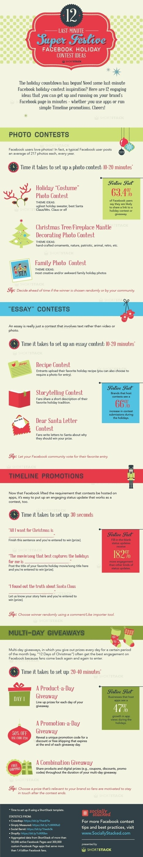 12 Last-Minute Festive Facebook Holiday Contests - Infographic | Social Marketing Revolution | Scoop.it