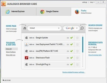 Auslogics Browser Care : Κρατήστε τον Browser καθαρό από Toolbars και ανεπιθύμητο λογισμικό - Τα καλύτερα δωρεάν προγράμματα | Δωρεάν προγράμματα, Τεχνολογία | Scoop.it