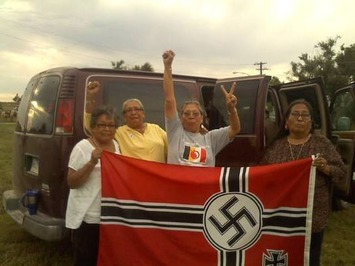 Lakota and Dakota grandmothers captured the Nazi flag hanging in Leith, ND and burned it | Herstory | Scoop.it