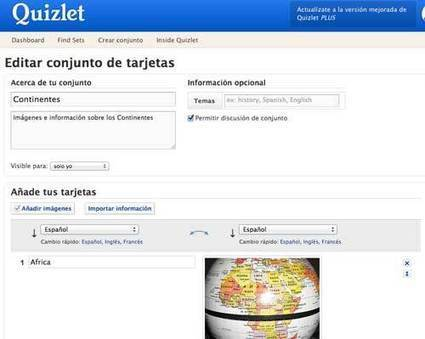 Quizlet, herramienta para crear tarjetas educativas con actividades | Nuevas tecnologías aplicadas a la educación | Educa con TIC | Technology and language learning | Scoop.it