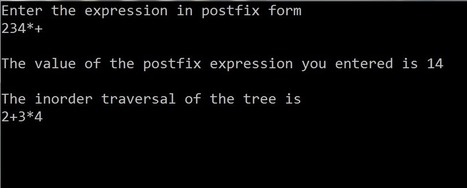 C code to implement Postfix Expression Tree   Let's Spread the Technology   coders-hub.com   Scoop.it