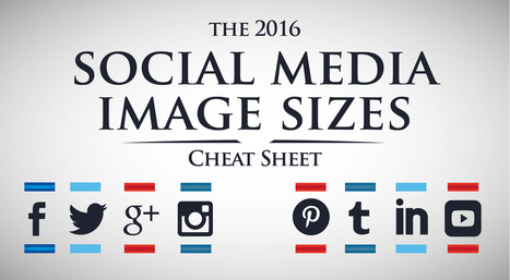 2016 Social Media Image Sizes Cheat Sheet | 100% e-Media | Scoop.it
