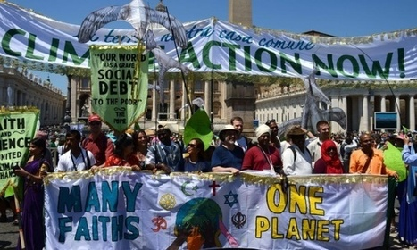 Pope Francis's environmental message brings thousands on to streets in Rome | Peer2Politics | Scoop.it
