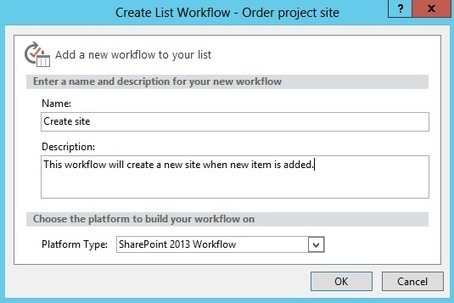 Create a SharePoint site using REST in workflow with SharePoint Designer | Sharepoint | Scoop.it