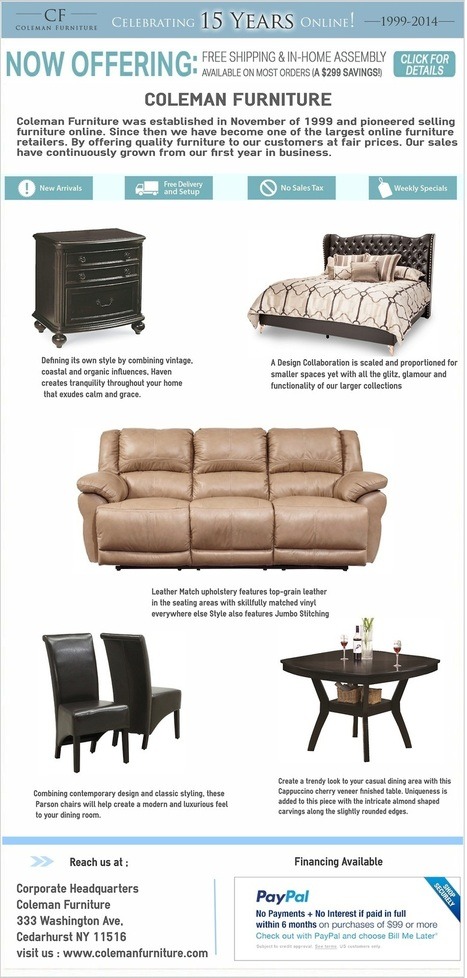 Coleman Furniture — Coleman Furniture was established in November of... | Furniture | Scoop.it