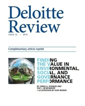 Deloitte Shows the Market Value of Strong ESG Management - Triple Pundit | sustainable finance | Scoop.it