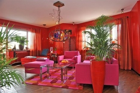 Colorful Swedish Apartment In A Crazy Mix Of Red Shades | Design | News, E-learning, Architecture of the future at news.arcilook.com | Colour Love | Scoop.it