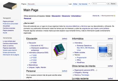 Un libro abierto de recursos: la wiki | Esfera TIC | Mundo WIKI | Scoop.it