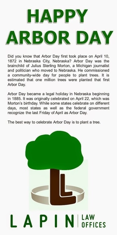 Happy Arbor Day | Nebraska and National Legal and Other News | Scoop.it