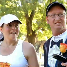 Marathon couple forgoes personal best to get married during race | It's Show Prep for Radio | Scoop.it