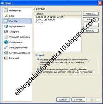 Configuración de la cuenta del blog en Windows Live Writer | Uso inteligente de las herramientas TIC | Scoop.it