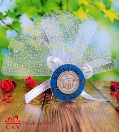 Ayetli İsim Yazılı Mavi Şeker AY52   Nikah Şekeri   Scoop.it