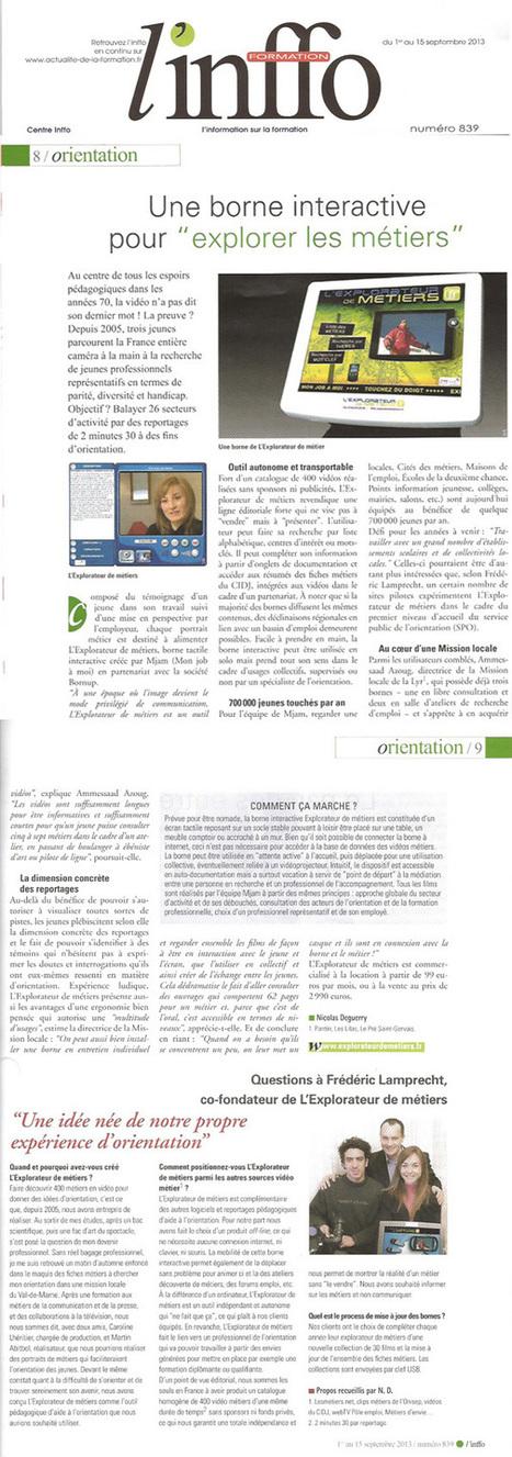 Explorateur de Metiers : La lettre d'information Décembre 2013   Culture Mission Locale   Scoop.it