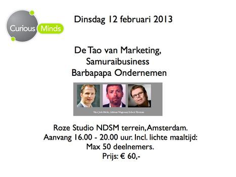 Curious Minds sessie: 12 februari 2013 | Curious Minds in Marketing | Scoop.it