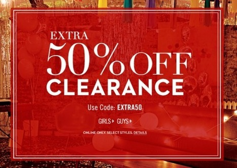 Aeropostale Extra 50% Off Clearance Sale. Items From $2.50! | apeso_com comercio electronico | Scoop.it