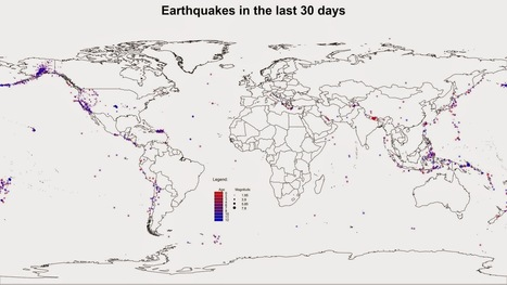Downloading and Visualizing Seismic Events from USGS in R   Learning R for GIS Professionals   Scoop.it