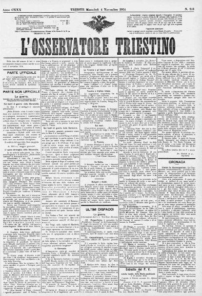 La Grande Guerra: una rassegna stampa di 100 anni fa, dal fronte opposto a quello italiano | Généal'italie | Scoop.it