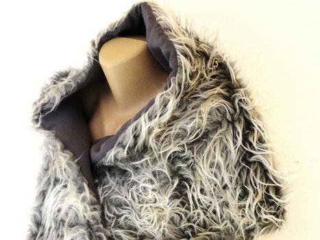 gray faux fur scarf, shawl ,2014  Winter scarf  , shaggy scarf, plush scarf Clothes Dress up accessories for women , Very Soft and Plush | Winter Fashions | Scoop.it