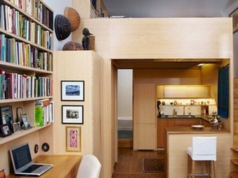 Clever cubbies augment tiny 240 sq. ft. NYC apartment | Home Centrl interiors | Scoop.it