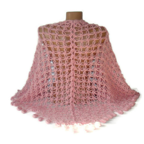 hand crocheted shawl, Soft Pink Shawl scarf, gift pink shawl, stole, triangle,fashion ,winter spring ,mohair wool shawl | Knit Ruffled Scarf,multicolor scarf,2013 NEW TREND SCARF,accessories,gifts for her,fashion,long scarf | Scoop.it