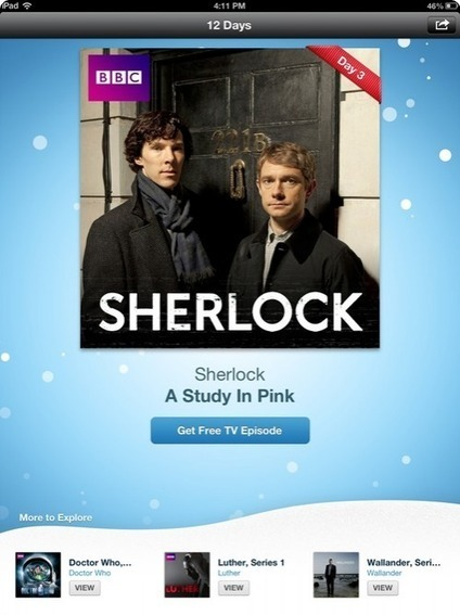 12 Days of Xmas app brings users HD 'Sherlock' episode | iPhones and iThings | Scoop.it