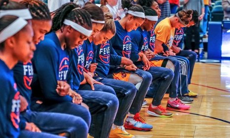 Entire Indiana Fever team takes a knee during national anthem at playoff game, fans react online | Coffee Party Feminists | Scoop.it