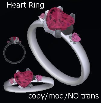 Heart Ring by Petra Yue | Teleport Hub | My SL Freebie Fashions | Scoop.it